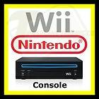 Genuine Black Nintendo Wii Game System Console Replacement w/ Warranty