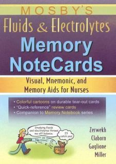 Fluids and Electrolytes Memory Notecards Visual, Mnemonic, and Memory