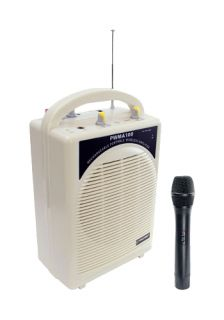 PYLE PRO PWMA100 RECHARGEABLE PORTABLE AMPLIFIER SPEAKER WITH WIRELESS