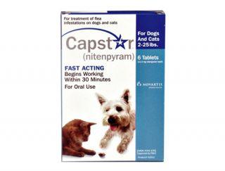 Novartis Capstar Green 6 tablets For Dogs Over 25 lb