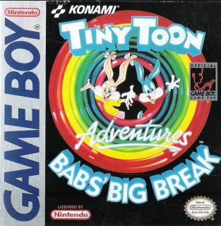 Tiny Toon Adventures Babs Big Break Nintendo Game Boy, 1992