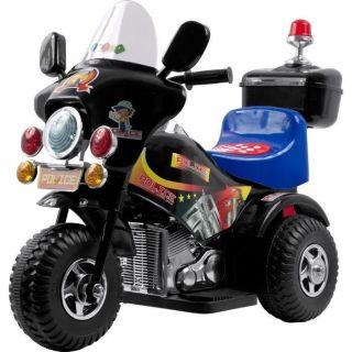Police Chopper Kids Ride On Harley Style Motorcycle Power 3 Wheels 6v
