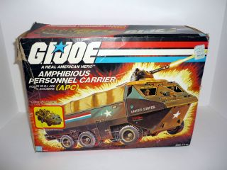 1983 APC PERSONNEL CARRIER   G.I. Joe Vehicle   COMPLETE w/SEATBELTS