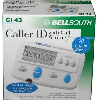 BELL SOUTH CALLER ID WITH CALL WAITING FOR HOME PHONE