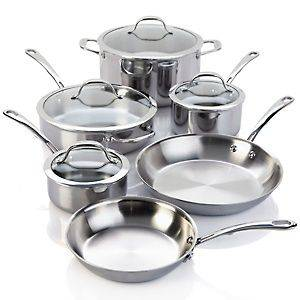 stainless steel cookware set in Cookware