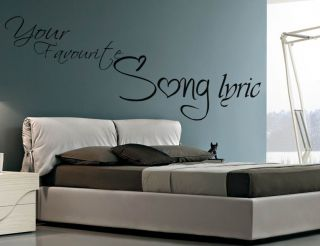 Your Own Song Lyrics Create Design Make A Quote Wallart Sticker Vinyl