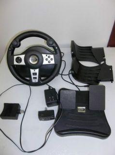 Microsoft XBOX Wireless 2.4GHZ Racing Wheel W Pedals Datel Brand