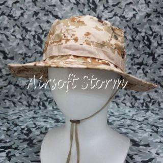 Airsoft SWAT Gear MIL SPEC Marine Boonie Hat Cap Desert Digital Camo