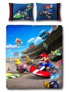Nintendo Super Mario Kart Race Reversible Double Bed Duvet Quilt