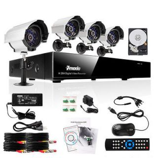 Home Video Surveillance Security Camera System 500GB Hard Drive