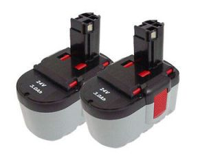 2X 3000mAh 24Volt Ni MH Power Tool Battery for BOSCH 2 607 335 562