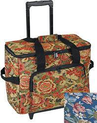Sewing Machine Trolley Floral Case On Wheels MR4680.WC16