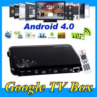 Google Android 4.0 Smart TV Box Internet HD Media Player Wireless