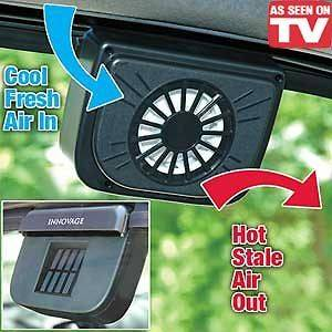 SOLAR SUN POWERED POWER WINDOW FAN VENTILATOR AUTO COOL AIR VENT FOR