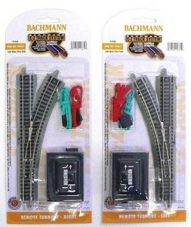 MODEL RAILROAD TRAINS LAYOUT BACHMANN EZ TRACK LEFT & RIGHT SWITCHES