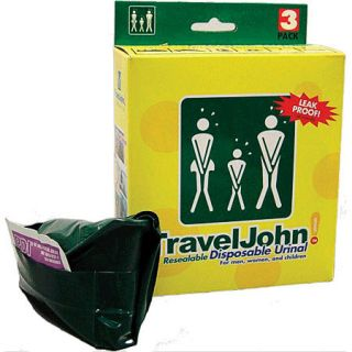 TRAVEL JOHN DISPOSABLE TRAVELERS URINAL/TOILET NIB