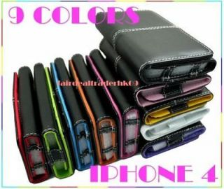 iPhone 4 4G 3G Wallet Leather Flip Case Cover 9 Colours