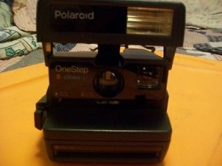 POLAROID ONE STEP CLOSE UP INSTANT CAMERA BLACK 600 FILM VINTAGE