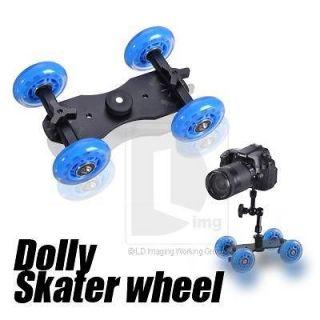 Tabletop DSLR Camera Dolly Slider Skater Wheel Truck Stabilizer fr 5D2