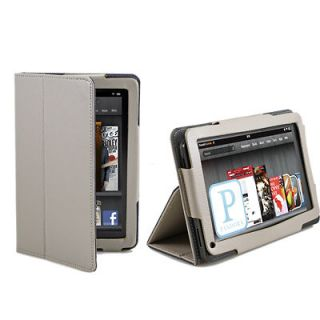 Zebra PU Folio Leather Cover Case Stand Pouch For Kindle Fire HD 7