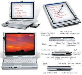 Fujitsu Lifebook T4220 Laptop Computer Tablet PC Maxed Slate
