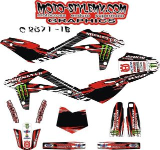 Husqvarna TC 250 08 13 graphics kit stickers *** NEW DESIGN ***