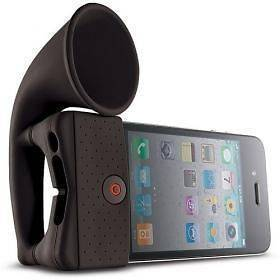 Portable Silicone Horn Amplifier Speaker For iPhone 4 4S mini ipod