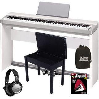Casio Privia PX130 White 88 Key Digital Piano COMPLETE HOME BUNDLE