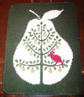 End Partridge Pear Tree Needlepoint Ipad Tablet netbook Case ret $49