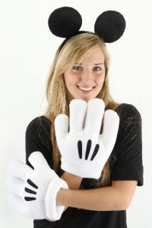 Disneys Mickey Mouse Ears and Gloves Licensed Costume Accessory, NEW