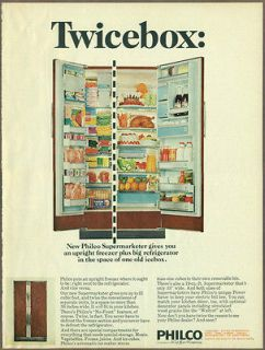 Philco Refrigerators 1966 print ad / magazine advertisement, Upright