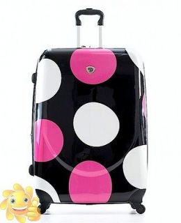 230 Landor & Hawa 28 Polka Dot Spinner Luggage