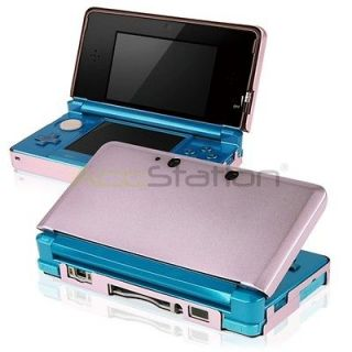 For Nintendo 3DS Pink Aluminum Metal Hard Shell Case Cover Box