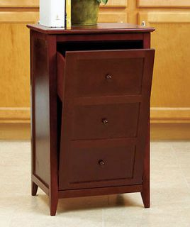 CABINET LOOK WOODEN TILT OUT GARBAGE TRASH BIN FURNITURE TABLE NEW