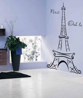 Eiffel Tower Paris Ooh La La Wall Decor Vinyl Decal Sticker 6FT