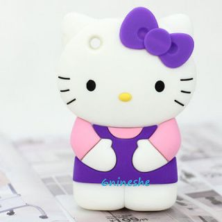 BOW Hello Kitty Soft Silicone Back Case Cover Skin for iPhone 3GS 3G