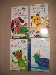 BABY EINESTEIN LOT VHS TAPES SHAKESPEARE DOLITTLE
