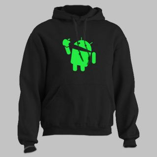 ANDROID eats APPLE ~ T SHIRT ios funny smartphone ALL SIZES AND