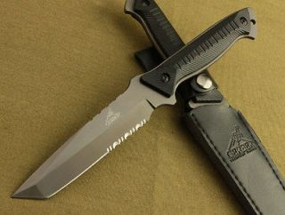 Gerber Full Tang Serrated ABS handle Survival Bowie Hunting Knife