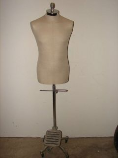 BONAVERI MALE DRESS FORM MADE IN ITALY WITH ADJUSTABLE STAND