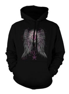 Angel Wings Heart Lock Artistic Classic Tattoo Art Love Peace Hoodie