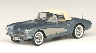 1956 Corvette in Arctic Blue with Silver Coves by The Franklin Mint LE