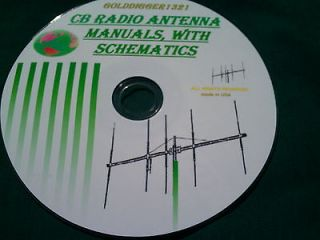 11 METER CB RADIO ANTENNA BEAM OWNER MANUALS, WITH SCHEMATICS ON CD