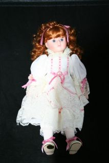 Princess House Jennifer Porcelain Collector Doll W/ Certificate of