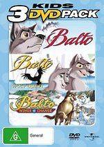 Balto / Balto II Wolf Quest / Balto III Wings of Change  NEW DVD R4