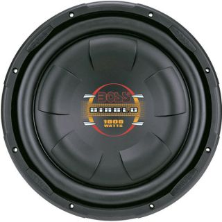 Boss Audio D12f 12 Low Profile Subwoofer, Poly Injection Cone, 4 ohm