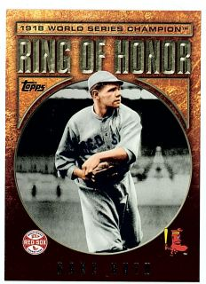 2009 Topps Ring of Honor Babe Ruth Boston Red Sox 1918 World Series