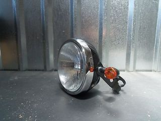 Hutsonator! halogen motorcycle headlight kit rat bike bobber japanese