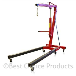 Cherry Picker Engine Hoist 2 Ton Tolding Picker Shop Crane Auto Car
