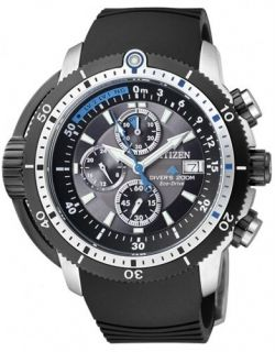 CITIZEN PROMASTER ECO DRIVE SUPER AQUALAND CHRONO METRIC DIVERS WATCH